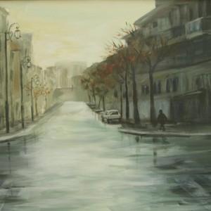 ירושלים - 2 - בוקר לאחר הגשם, 2007 אקריליק על בד 50X70