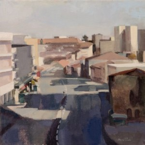 Jaffa Road Afternoon , 2006 oil on canvas 45 X 45 cm