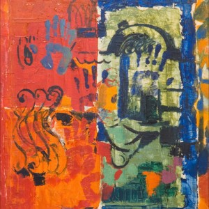 Me'a She'arim, oil on canvas 75x90 cm