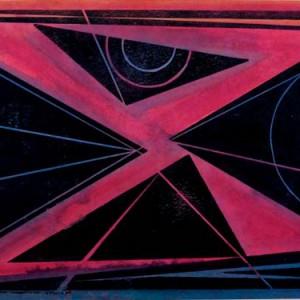 אלף, 1990 חיתוך עץ וצבעי מים 56x42