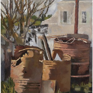 Barrels, 2006 oil on canvas 100x90 cm