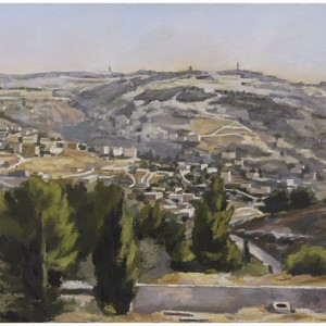 Promenade - Jerusalem from Shrober promenade, 2005 oil on canvas 90x70 cm