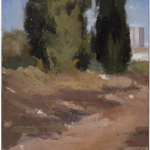 Cypresses, 2005 oil on canvas 27x20 cm