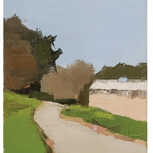 Ein Karem - Path, 2007 oil on canvas 25x20 cm