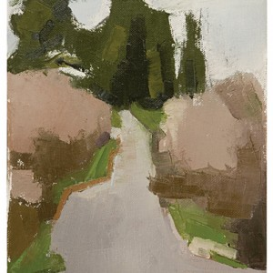 Ein Karem - Path, 2007 oil on canvas 27x19 cm