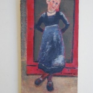 Tamar , 2008 acrylic on wood and canvass 16.5x37 cm