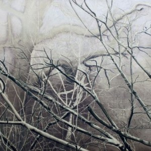 Untitled (Forest 2) - Abramovich Sonia, 2007, oil on canvas, 90x70 cm