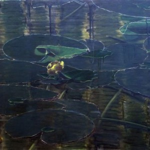 Untitled (Pond 2) - Abramovich Sonia, 2007, oil on canvas,  70X90 cm