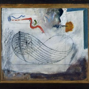 Boat - Aroch Arie, 1968, Oil on Masonite