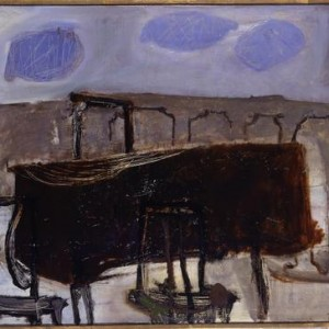 Table on the Balcony - Aroch Arie, 1955, Oil on canvas