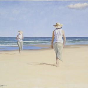 """""""... החול והים..."""" - פסטרנק אנה, 2001 , שמן על בד פשתן, 92X100 סמ"""