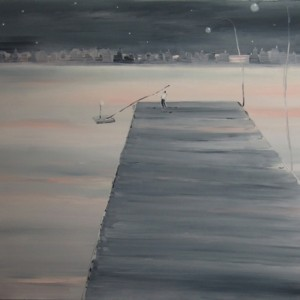 the pier, 2008 oil on canvas 140x160 cm
