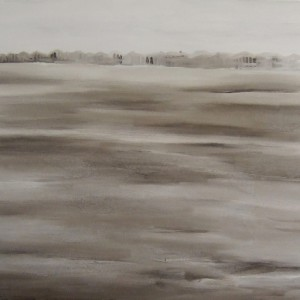 the other bank , 2008 oil on canvas 150x170 cm