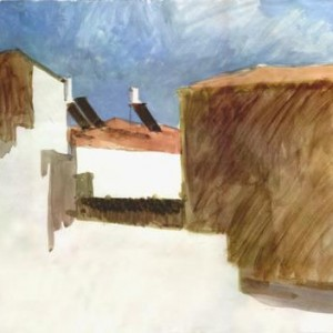 Batey Broyde, 2001 Watercolor on paper 30 x 50 cm