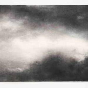 שמיים מס' 4 - חמאוי אילנה, 2006 , פחם על נייר, 80x120