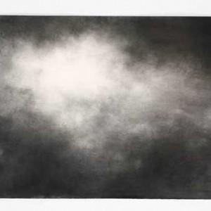 שמיים מס' 9 - חמאוי אילנה, 2007 , פחם על נייר, 80x120