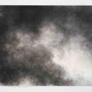 שמים מס' 3 - חמאוי אילנה, 2006 , פחם על נייר, 70x100
