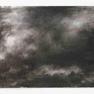 שמים מס' 1 - חמאוי אילנה, 2006 , פחם על נייר, 70x100