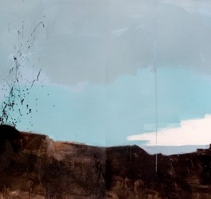 View (diptych) - Eliav Aya, 2009, Acrylic and industrial color on canvas 150x260