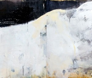 Land (diptych) - Eliav Aya, 2009, Acrylic and industrial color on wood 100x200