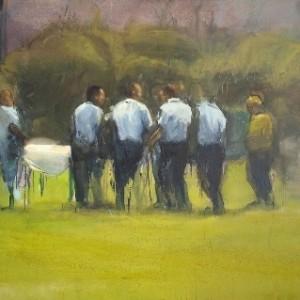 At Saker park, 2009 oil on canvas 195x140 cm