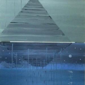 ליל הניצוצות, 2008 שמן על בד