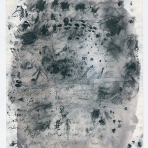 I Stood Behinde. in Puoring Rain. I Looked at What You Feel - Harechavi Hedva,  2007, Ink and charcoal with water on paper, 29.4x21 cm