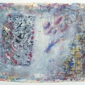 רחוב של ציפור מתה, 2004 צבע מיים על נייר ליטוגרפי 63X24.5 סמ