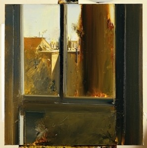 Meir Appelfeld, View from the Studio Window, 2009 ,oil on canvas 84x86 cm