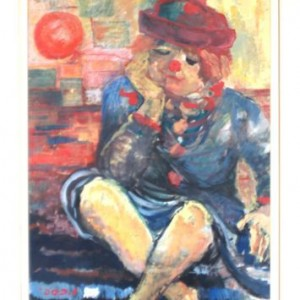 Clown, 1980 oil on canvas 70X50 cm