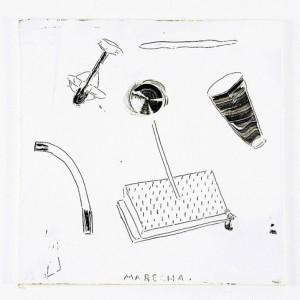 """ללא כותרת, 2003 סיליקון לבן על עץ 47X47 ס""""מ"""