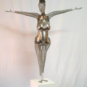 Welcome to the Party, stainless steel 120x110x30 cm