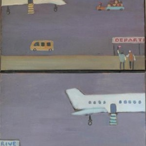 """נמל תעופה 2#, 2008 שמן על בד 80X120 ס""""מ"""