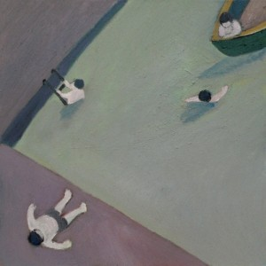Pool #1, 2008, oil on canvas 80x80 cm