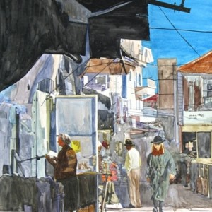 Me'a Shearim, Jerusalem, water colors 50x70 cm