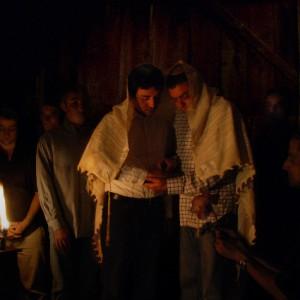 """בניהו אלבז ויצחק וולף חתונה יהודית 2008 ,צילום על בד 80X86 ס""""מ"""