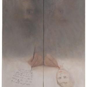"""רות קסטנבאום בן דב הצייר והחסיד 2008 ,דיפטיך, שמן על בד 40X60 ס""""מ"""