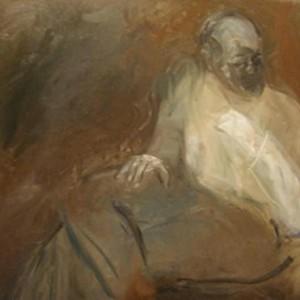 """יד לבנה, 2001 שמן על בד 80 על 60 ס""""מ"""