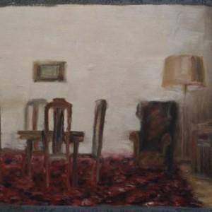 """רחוב הצלליות (פרט), 2000 צבע שמן על דיקט 8.75 מ' על 35 ס""""מ"""