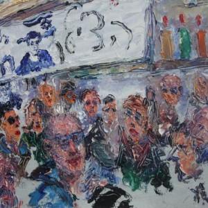 """מתוך הסדרה """"יום אחד יותר מידי בשבי"""" - קביסרס ז'ורז', 2009-2010 , שמן על דיקט"""