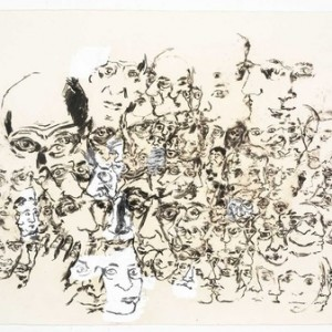 Gilad Efrat, Untitled, 2008, Charcoal and gesso on paper 67x102 cm