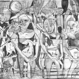 """מיה בלוך, בלא כותרת, 2010, עיפרון על נייר 30.5X23 ס""""מ"""
