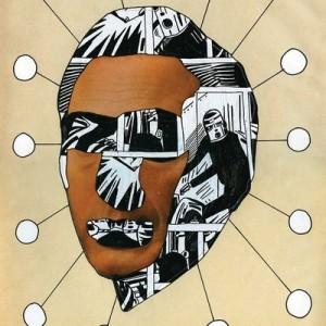 """גרי גולדשטיין' מן הסדרה' """"Enamels II"""" 2009 הדבק, טיפקס ודיו על נייר 22X30 ס""""מ"""