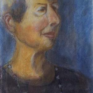 """האשה, 2001 פסטל 33 על 50 ס""""מ"""