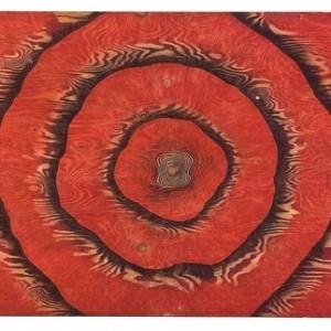 """מאשה זוסמן, בלא כותרת, 2008, עט כדורי על עץ לבוד 144X90 ס""""מ"""