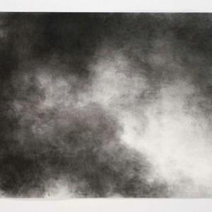 """אילנה חמאוי, שמים מס' 3, 2006, פחם על נייר 100X70 ס""""מ"""