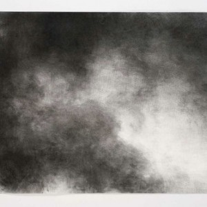 Ilana Hamawy, Sky no.3, 2006, Charcoal on paper 70x100 cm