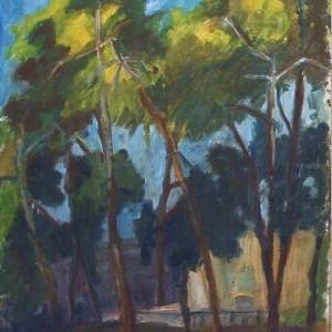 """נוף ירושלים, 2002 שמן על בד 45 על 60 ס""""מ"""