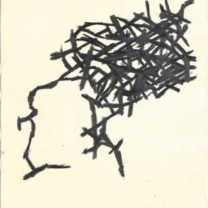 """אמיר נוה, בלא כותרת ,2009, גרפיט על נייר 50.5X56.5 ס""""מ"""