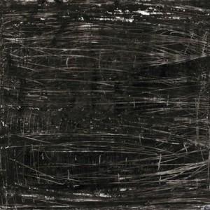 """אילנה סלמה, אורתר יריעת קלף מחוק (פלימפססט), 2003, עיפרון, גרפיט, גיר שמן, גואש, טרפנטין וחריטה על נייר 69X50 ס""""מ"""